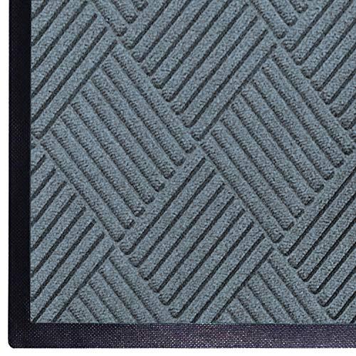 WaterHog Diamond | Commercial-Grade Entrance Mat with Rubber Border – Indoor/Outdoor, Quick Drying, Stain Resistant Door Mat (BlueStone, 3' x 4')