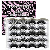DAODER 25mm Lashes Pack Faux Mink Strip Eyelashes Bulk Variety Mixed Dramatic Long Soft Fluffy Wispy Bold Big False Eyelashes for Women Makeup 10Pairs