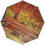 Paraguas automático Banco Autumn Park TravelConveniente a Prueba de Viento Impermeable Secado rápido Plegado Automático Abrir Cerrar