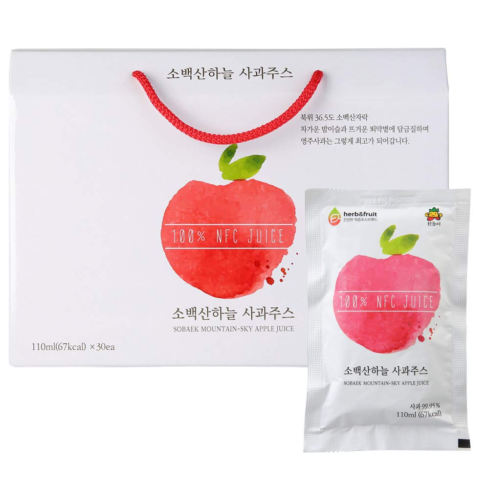 Sobaek Max 85% OFF Mountain-Sky Healthy Apple Drink Seed Unpounded Juic sold out Free