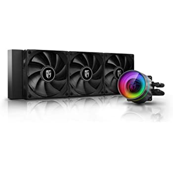DEEPCOOL Castle 360EX, Addressable RGB AIO Liquid CPU Cooler, Anti-Leak Technology Inside, Cable Controller and 5V ADD RGB 3-Pin Motherboard Control, TR4/AM4 Supported, 3-Year Warranty