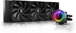 DEEP COOL Castle 360EX, Refrigeración Líquida RGB Direccionable para CPU, con Tecnología Anti-Fugas,Controlador de Cable y/o Control de Placa Base con Add-RGB Header de 5V-3Pin,Garantía de 3 años