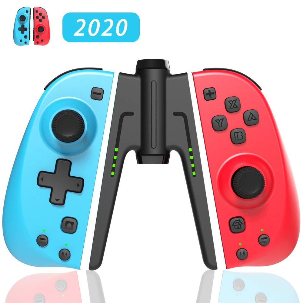 TUTUO Mando Switch para Nintendo Switch, Bluetooth Wireless Controller Gamepad Joystick Controlador De Reemplazo Izquierdo Y Derecho para Joy con: Amazon.es: Electrónica