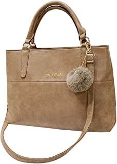 Chinatera Women's Fashion Design Leather Handbags Bag Ladies Messenger Bag One Size Khaki