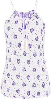 Wintialy Women Summer Print Sleeveless Vest Shirt Tank Tops Blouse T-Shirt
