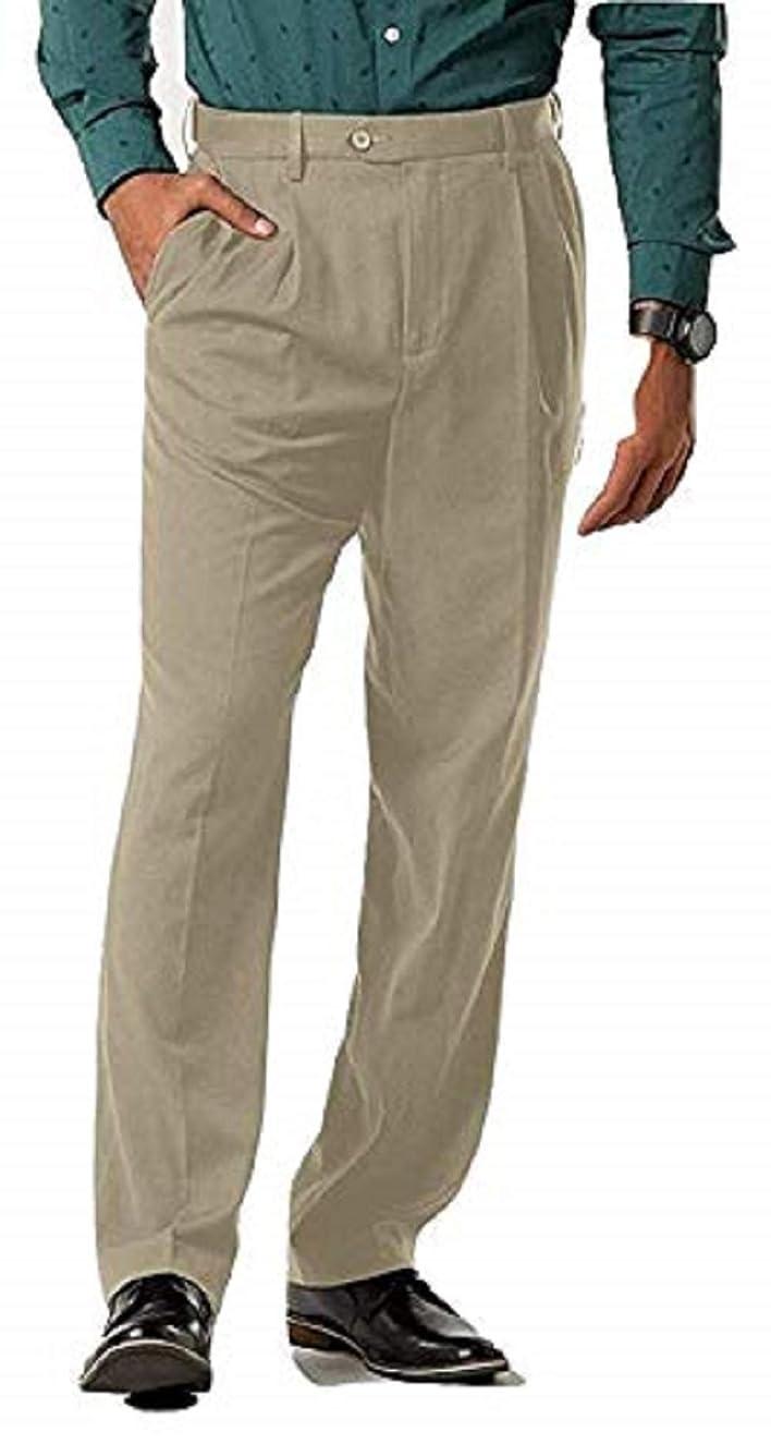 David Taylor Collection Men's Classic Fit Dress Pants Size 44x30 Pale Khaki