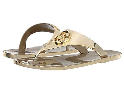 MICHAEL Michael Kors Lillie Jelly Thong (Gold Metallic PVC) Women