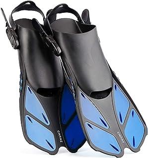 CAPAS Snorkel Fins, Swim Fins Travel Size Short Adjustable for Snorkeling Diving Adult..