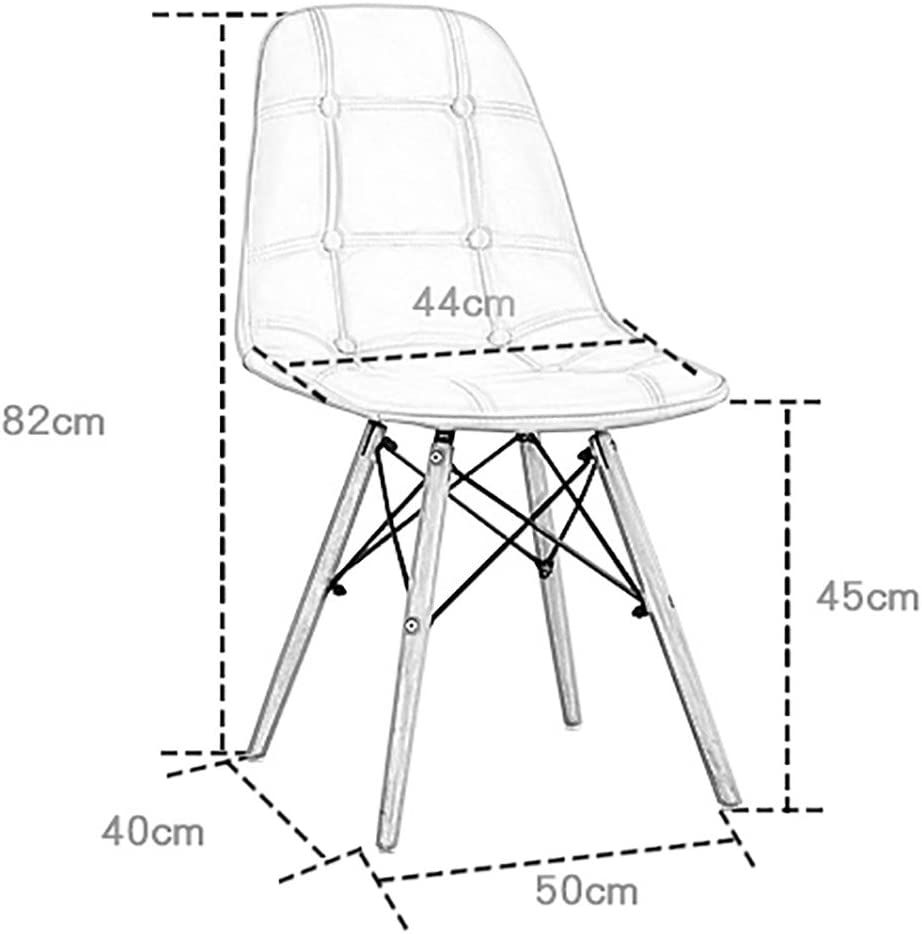 XINHXHE Chair - - Chaise Simple et Confortable pour Ordinateur, Chambre à Coucher, Salon, Bureau, Salle à Manger, Chaise Douce et absorbante Chaise (Color : G) D
