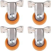 Sharplace 4 x heavy duty plaat bokwiel nylon wielen trolley meubelrol