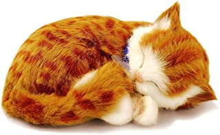 PRECIOUS PETZZZ Lifelike Breathing Huggable Cute Puppy Dog Cat Birthday Gift UK by Lizzy (Ginger Tabby Cat)