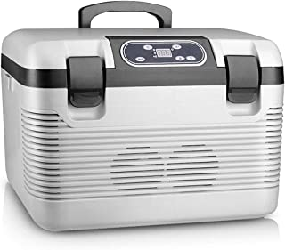 19L Dual-core Car Refrigerator Portable Compact 12V~220V/240V Dual-use Dual Input, Hot and Cold Function,