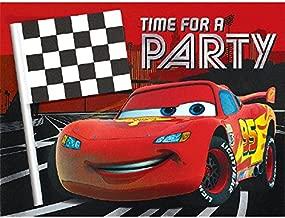 Amscan Disney/Pixar Cars Formula Racer Deluxe Jumbo Postcard Invitation (8 Piece), 6