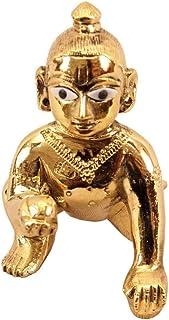 Vrindavan Bazaar Metal Laddu Gopal, Bal Gopal, Krishna Statue, Thakur ji-M
