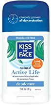 Kiss My Face آنزیم فعال استیک دئودورانت - رایحه رایگان ، 2.48 اونس.