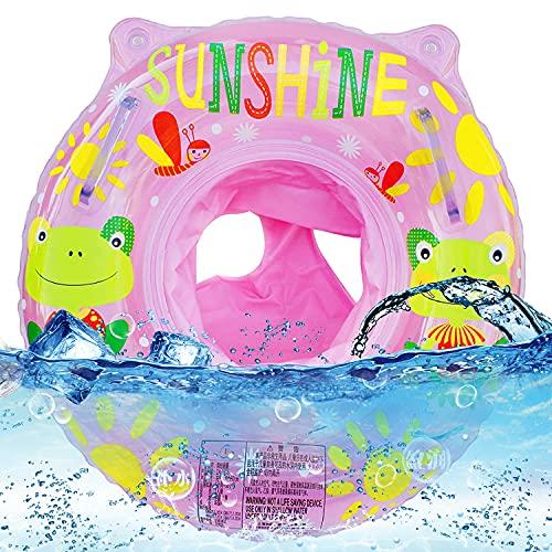 WELLXUNK Baby Schwimmring, Schwimmhilfe Baby, Kinder Schwimmreifen Spielzeug, Schwimmsitz Kleinkinder, Baby Schwimmen Ring, Aufblasbarer schwimmreifen Kleinkind für Kinder ab 6 Monaten bis 36 Monaten