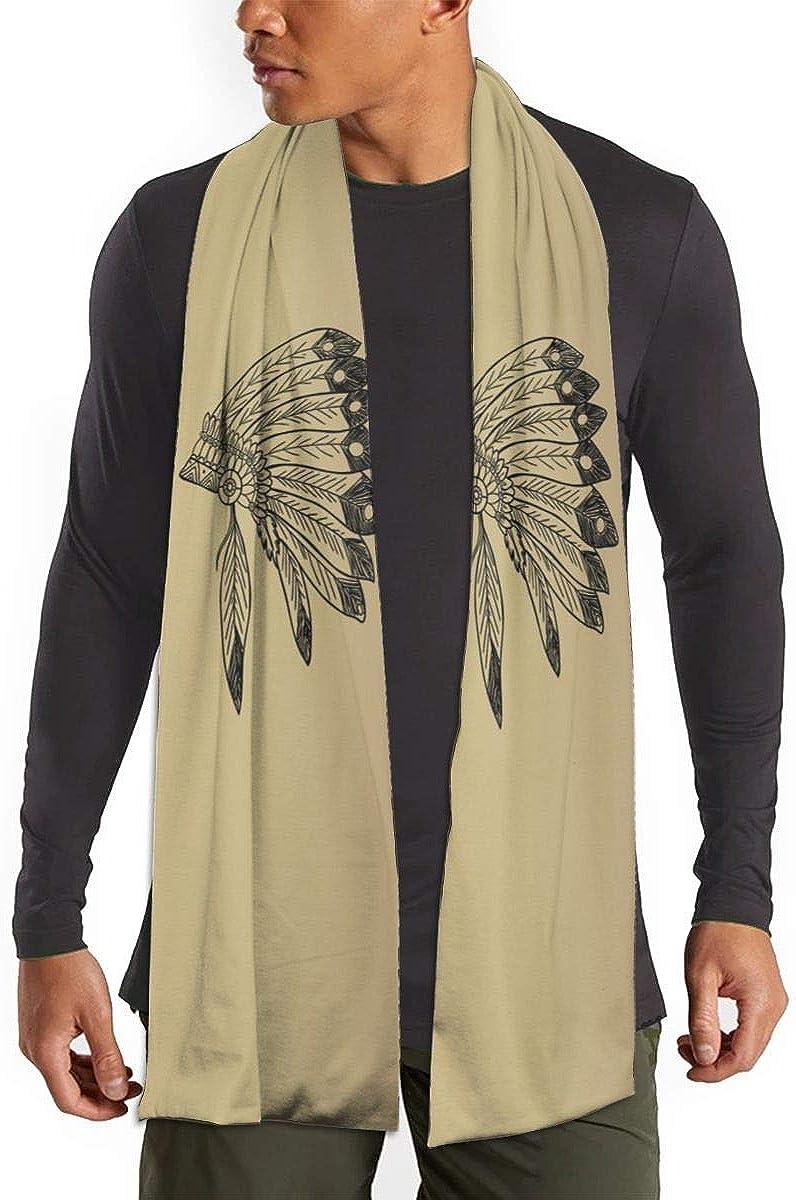 Native American Indian Headdress Scarfs – Imported Lightweight Neckwear Blanket Wrap Winter Shawl