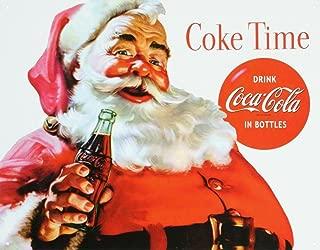 Coca Cola Coke Santa Claus Christmas Retro Vintage Tin Sign