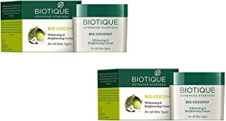 Biotique Advanced Ayurveda Bio Coconut Whitening And Brightening Cream (For All Skin Types)(Pack Of 2)