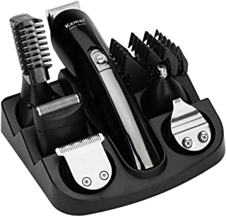 Men's Head to Toe Trimmer Kit Cordless Rechargeable Beard Trimmers Hair Clippers Groomer with Stainless Steel Blades ,Cord...