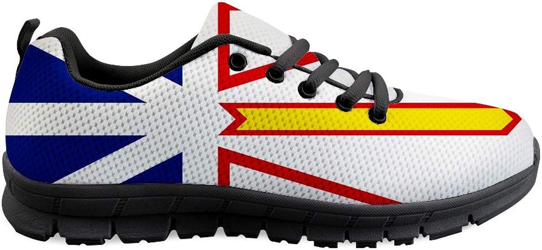 Owaheson Laceup Sneaker Training shoes Mens Womens Newfoundland and Labrador Flag