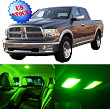 SCITOO LED Interior Lights 10pcs Green Package Kit Accessories Replacement for 2002-2010 Dodge Ram 1500-3500