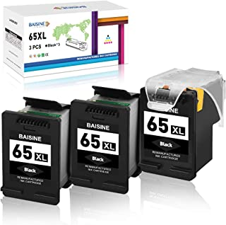 BAISINE Remanufactured Ink Cartridge for HP 65 65XL 65 XL Eco-Saver for Deskjet 2655 2622 3752 3755 3720 2624 2622 3730 37...