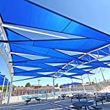Windscreen4less 16' x 16' x 16' Sun Shade Sail Canopy in Ice Blue with Commercial Grade Customized