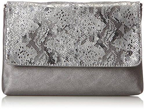 TOM TAILOR DENIM Damen Mila Vip Schultertasche, Silber (Silber), 3x19x29 cm