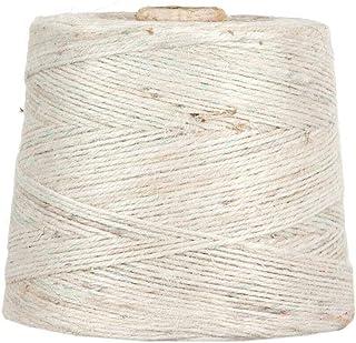 Jutegarn, Weiß, 1 kg, ca. 500 m Juteschnur, 100% Jute, auf Pappspule