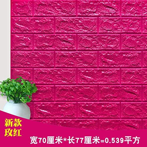 Decoración de navidad sala belleza decoración mate vinilo cocina ladrillo papel pintado sala de estar papel tapiz