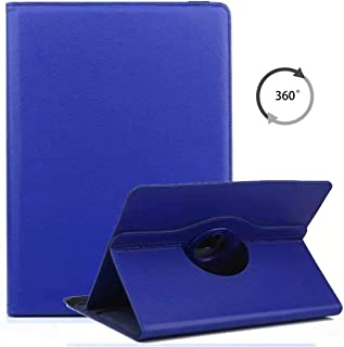 Universal 7 inch Tablet Case, ANGELLA-M 360 Degree Rotating Stand Case Cover for Acer Iconia One 7 B1-7870 / B1-770 /Huawei MediaPad M2 7.0 - Darkblue