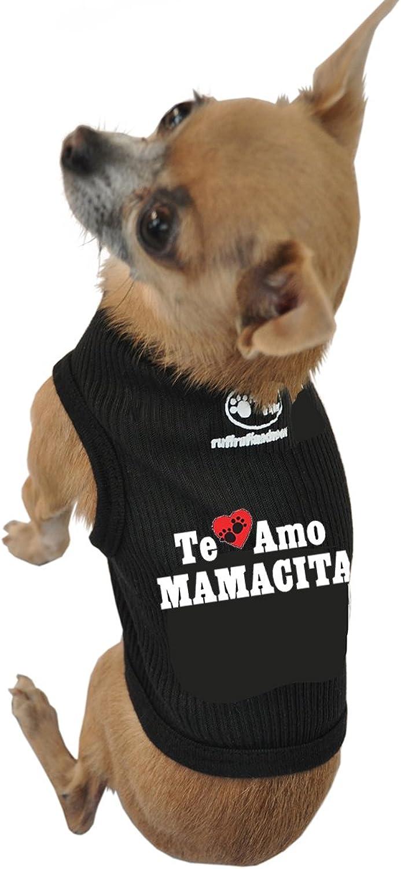 Ruff Ruff & Meow Dog Tank Top, XSmall, Te Amo Mamacita, Black
