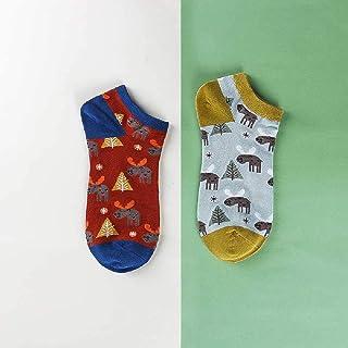 ZHANGNUO, Calcetines De Verano para Mujer De Algodón para Mujer Calcetines para Barco Calcetines para Mujer Linda Boca Baja Calcetines De Verano para Mujer