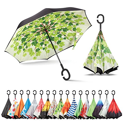 Sharpty Inverted, Windproof, Reverse Umbrella for Women with UV Protection, Upside Down with...