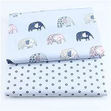 DIY 2 stks Bloemen 100% katoen gedrukt stof voor het maken van kleding naaiende laken patchwork doek DIY stoffen voor baby...