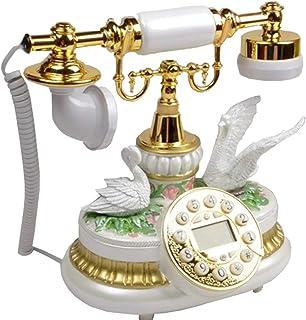European Retro Phone Gold Code Vintage Telephone Antique Phone Resin Button To Dial Home Office Supplies Retro Landline