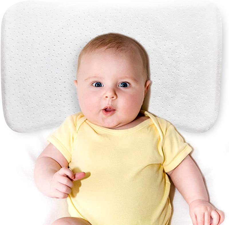 GENERAL ARMOR Baby Pillow For Newborn Breathable 100 Cotton Exterior Oeko Tex 100 Certified Hypoallergenic For Newborns And Infants Prevents Flat Head Syndrome