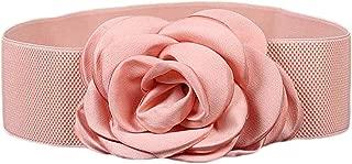 Nanxson(TM) Women Fashion Wide Elastic Waist Belt with Decorative Flower Buckle PDW0075