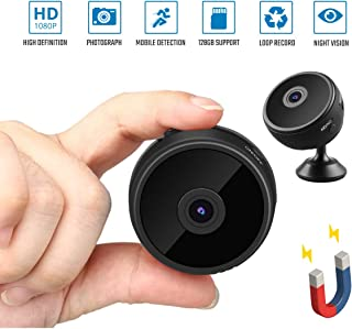 Sondiko Spy Camera Wireless Hidden WiFi Camera(2019 Upgraded) WiFi HD 1080P Home Security Motion Detection Mini Camera with Night Vision Function, Motion Detection, Remote View and Stand&Clip