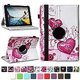 NAUC Medion Lifetab E10604 E10412 E10511 E10513 E10501 Tablet Tasche Hülle Schutzhülle Tablettasche mit Standfunktion 360° drehbar hochwertige Verarbeitung Universal Case Cover, Farben:Motiv 6