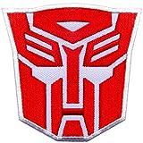 Parche bordado con logo de Transformers Optimus Prime Autobots rojo caliente
