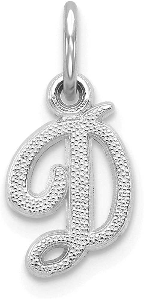 Jewels By Lux 14K White Charm Casted Goldw Initial D Limited time cheap sale It is very popular