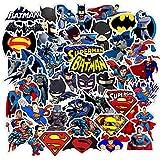 Film Batman Superman Autocollants DIY Téléphone Snowboard Ordinateur Portable Bagages Réfrigérateur Guitare Graffiti Étanche Blague Classique Autocollants45 pcs