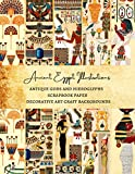 Ancient Egypt Illustrations | Antique Gods and Hieroglyphs Scrapbook Paper | Decorative Art Craft Backgrounds: Premium Scrapbooking Sheets for Gift Wrapping and Journaling