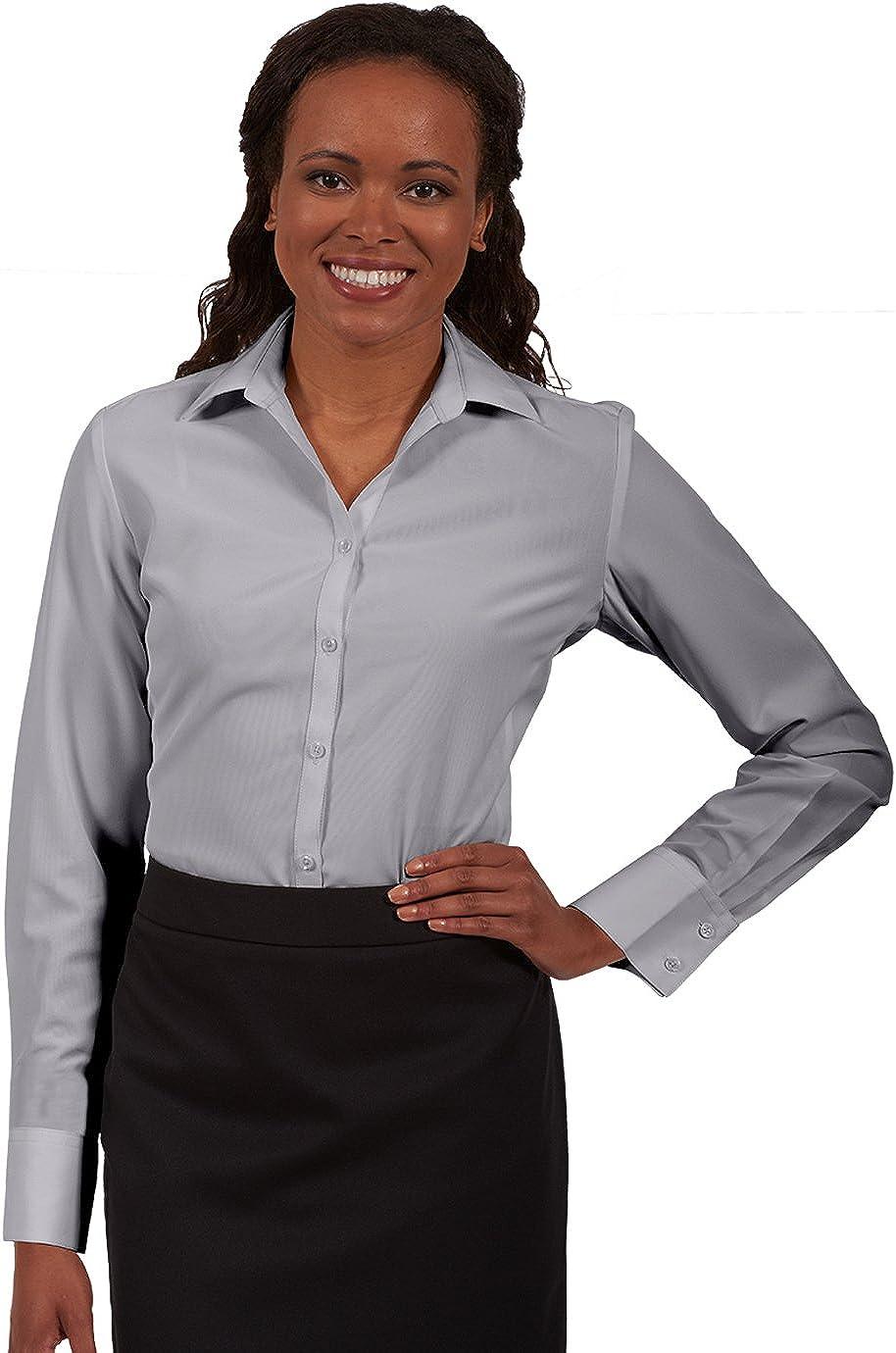 Edwards Garment Women's Batiste French Cuff Narrow Placket Blouse Shirt