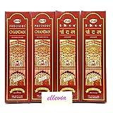インドお香スティックタイプ エコノミーパック (4箱セット)