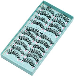 100 Pairs False Eyelashes Wispy Thick Cross Handmade Reusable Makeup Tools Lashes Extension