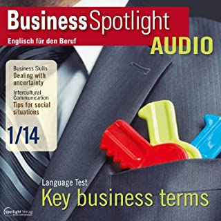 Business Spotlight Audio - Dealing with uncertainty. 1/2014 Titelbild