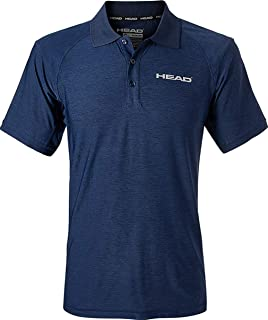 HEAD Men's Icon Polyester Training Workout & Tennis Polo - Short Sleeve Activewear Shirt